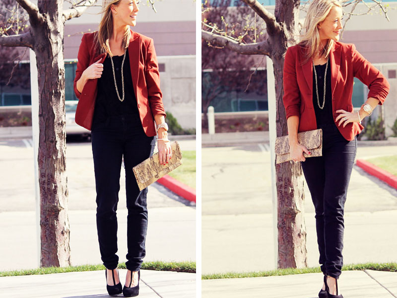 rust colored blazer