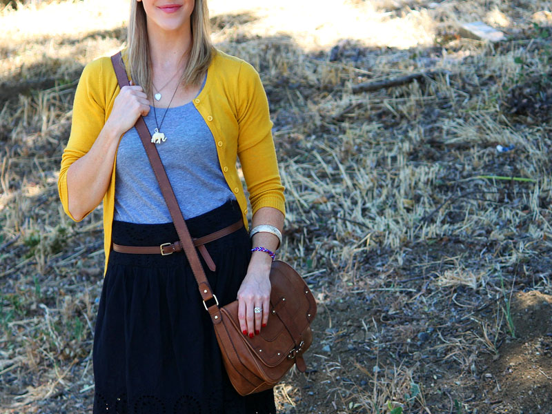 Mustard Cardigan Crush