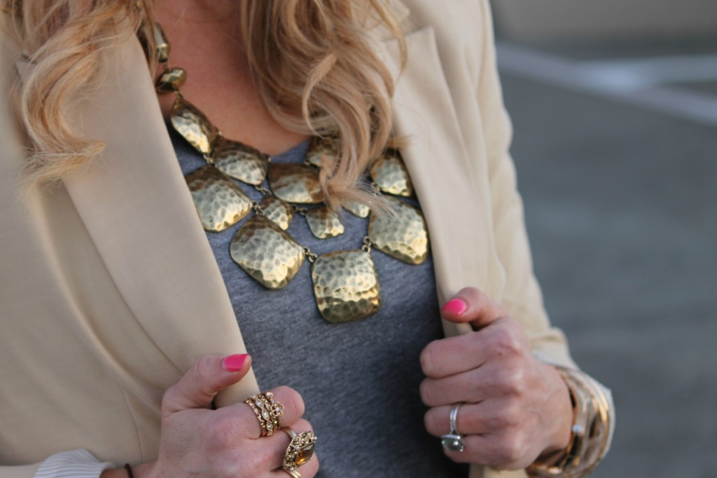 Over-sized Blazer and a Statement Necklace