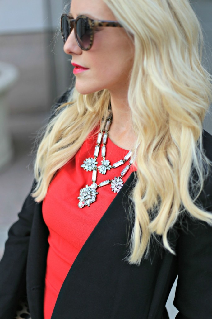 Valentines Day Ruche Coat - necklace