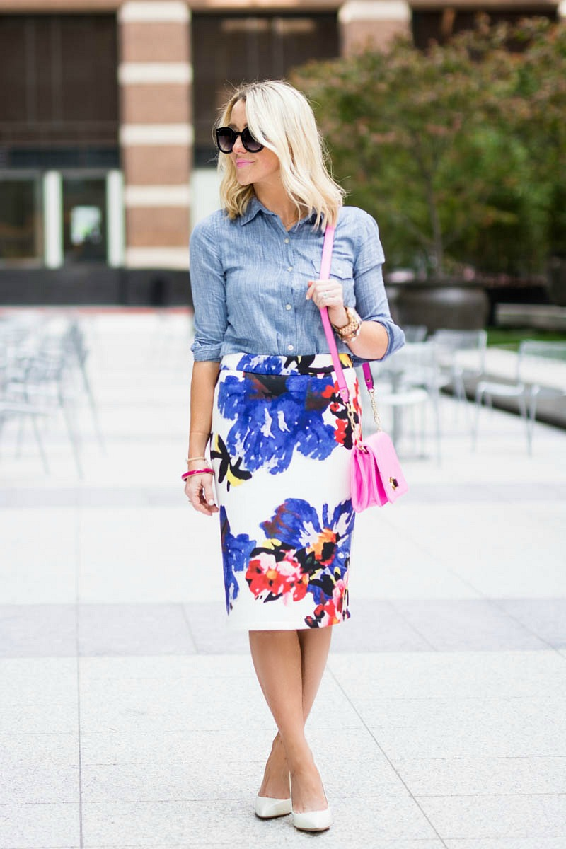 Floral-pencil-skirt-Chicwish-2