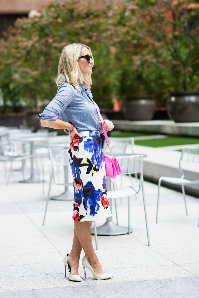 Floral-pencil-skirt-Chicwish-5