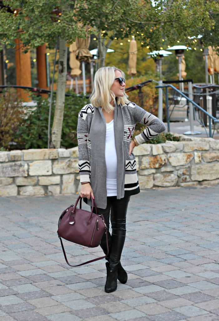 Pregnancy Styling Tip: Long Cardigans