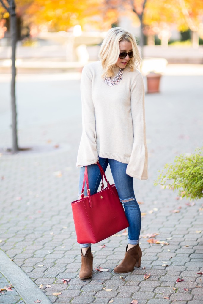 Bell Sleeves and Burgundy