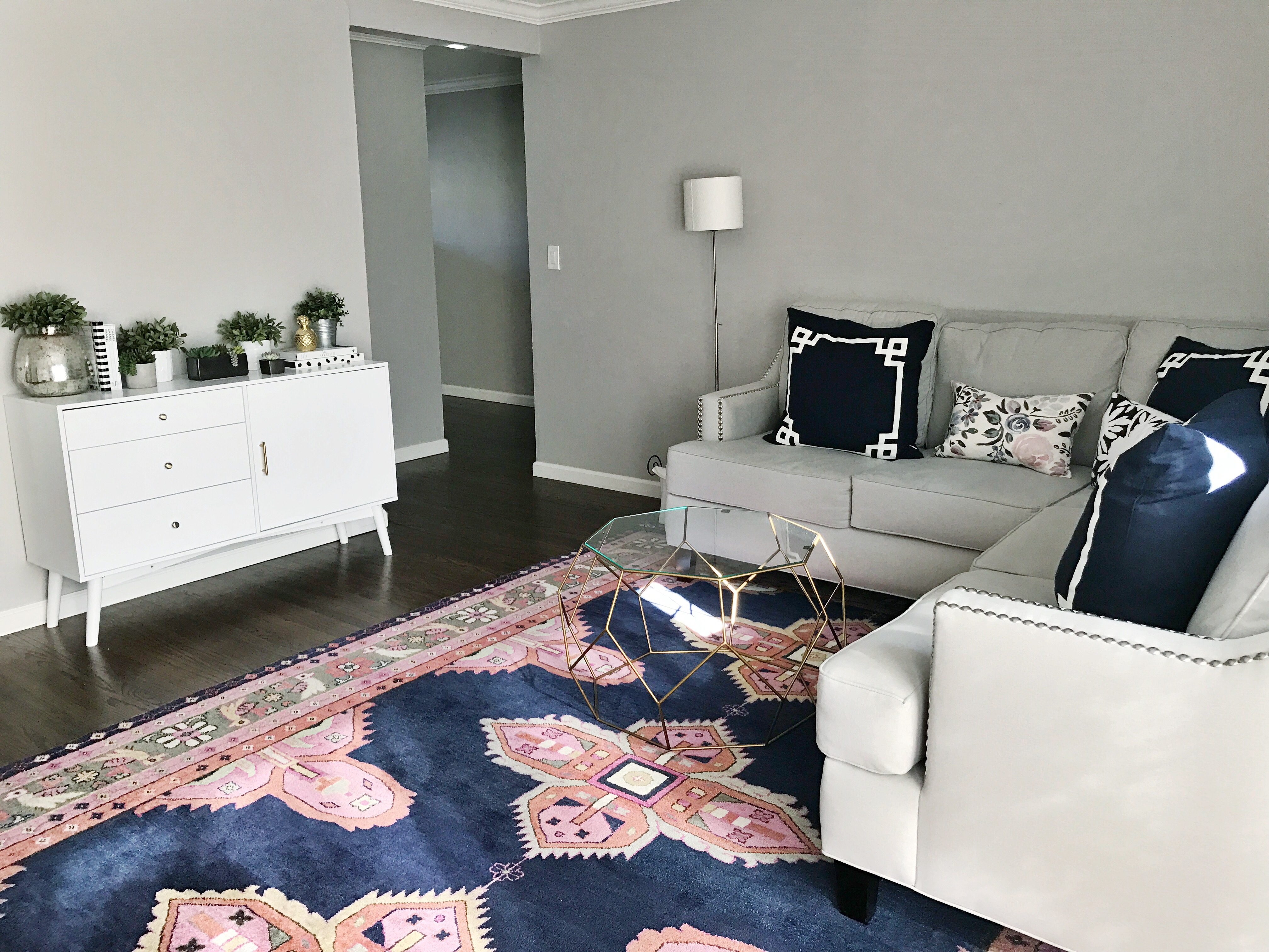 How to Style a Contemporary Media Console by San Francisco blogger For The Love