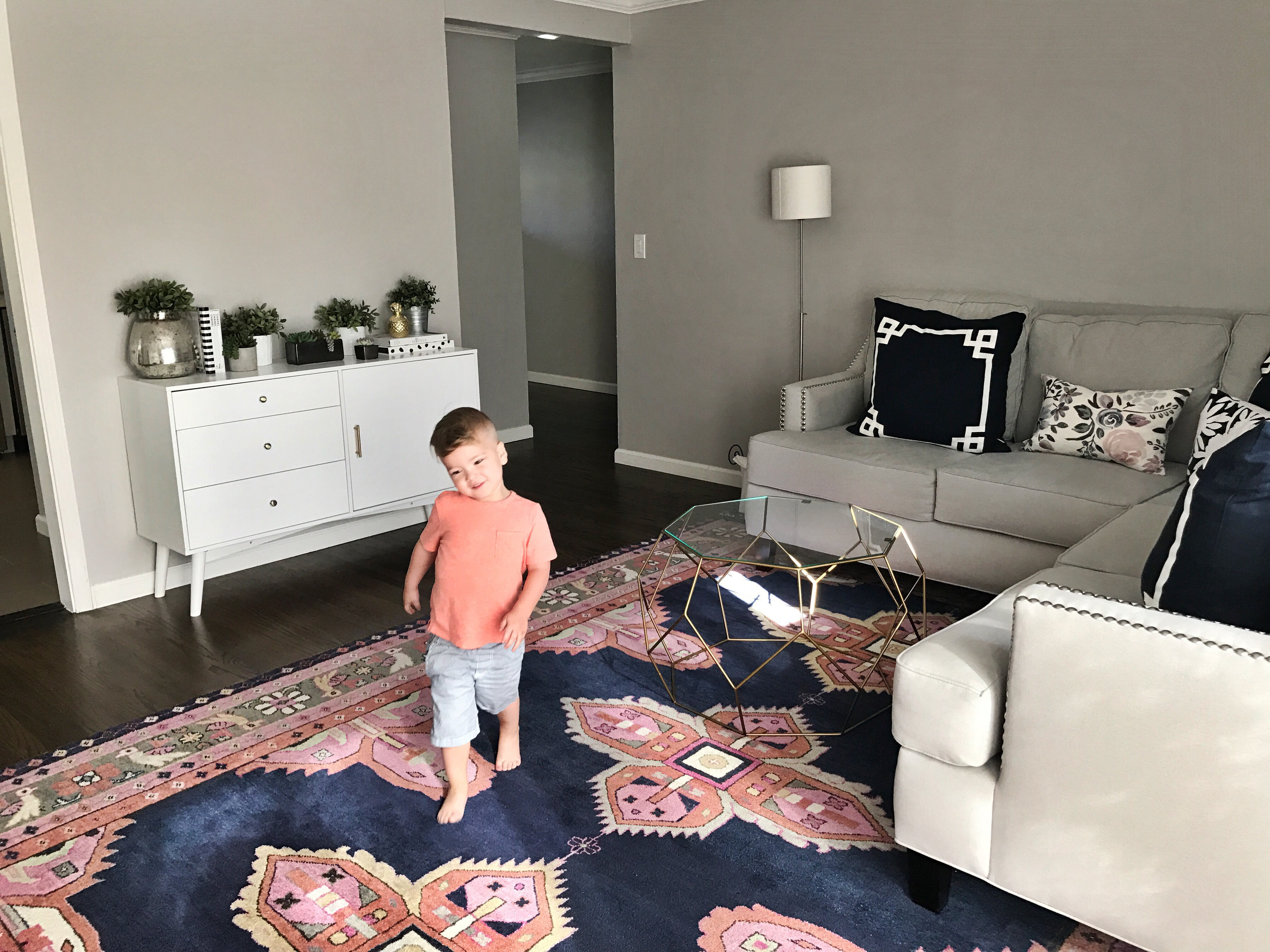 How to Style a Modern Media Console by San Francisco blogger For The Love