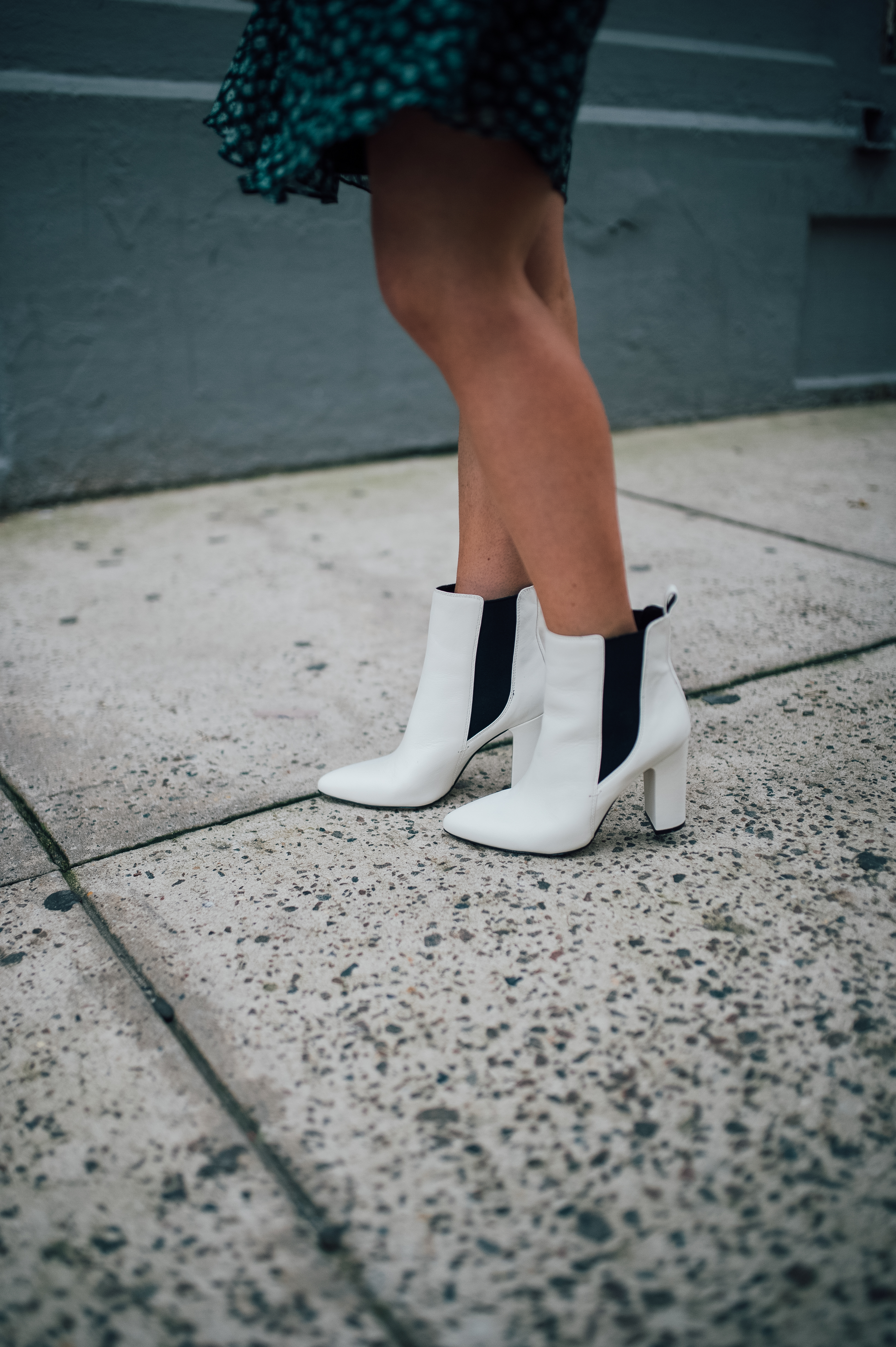 Fall Trend Alert: White Booties! by San Francisco fashion blogger For the Love
