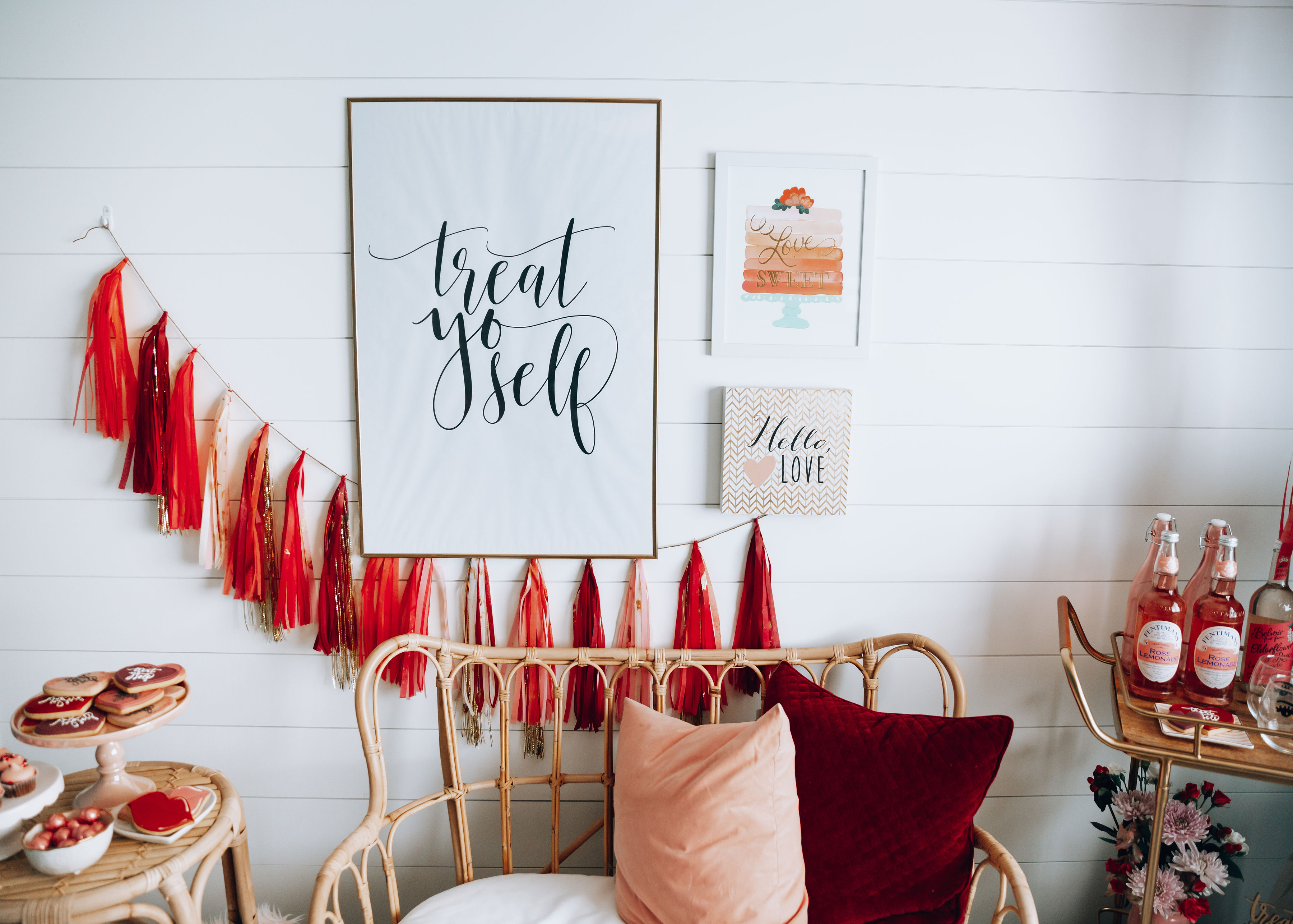 5 Ways to Treat YourSelf This Valentine's Day featured by top life and style blog, For the Love: image of Valentines Day home decor